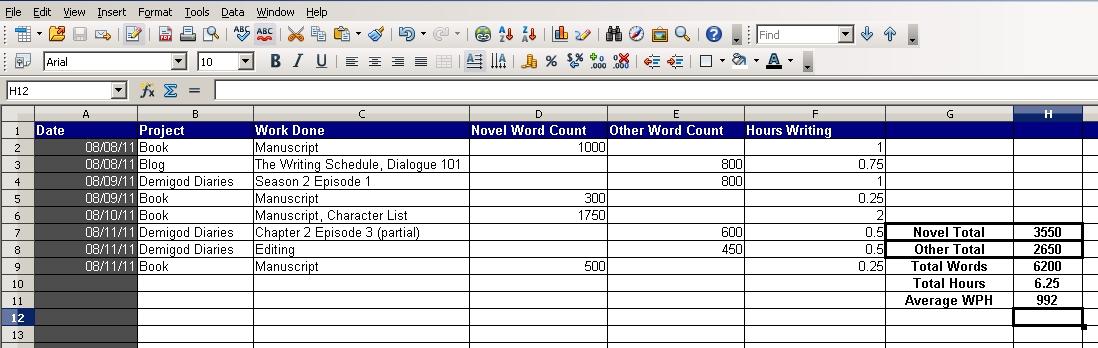 progress reports in excel samuel loveland