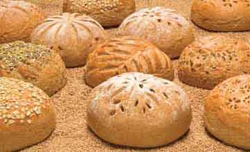 picture of freshly-baked round loaves