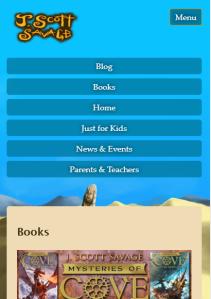Screenshot of Menu at Phone Size