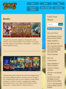 Screenshot of tablet view