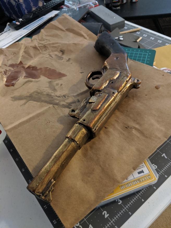 Mal's pistol,